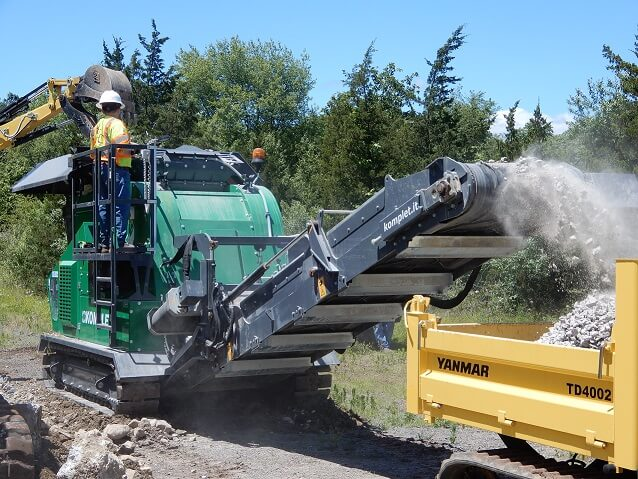 komplet-lt-7040-mobile-concrete-crusher-komplet-north-america - Compact Concrete Crushers - Recycle Material On-Site with Komplet mobile crushers