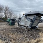 Small Concrete Crusher & Rock Screener Making Multiple End Products