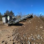Small Jaw Crusher Processing Concrete and Asphalt Debris